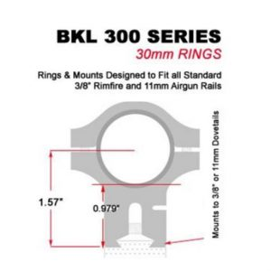 BKL-301 Two Piece Mount 30mm Silver